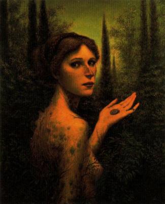 Дино Валлс. Обнаженная девушка в лесу