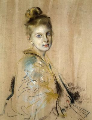 Франц фон Ленбах. Девушка с веером