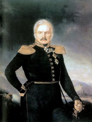 Петр Захарович Захаров-Чеченец. Портрет Алексея Петровича Ермолова