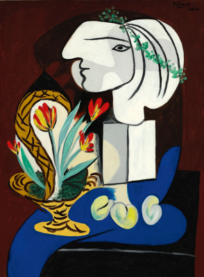 Pablo Picasso. Still life with tulips
