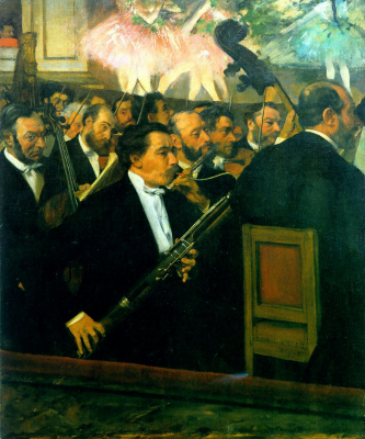 Edgar Degas. The orchestra of the Opera
