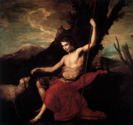 Jose de Ribera. John the Baptist in the wilderness