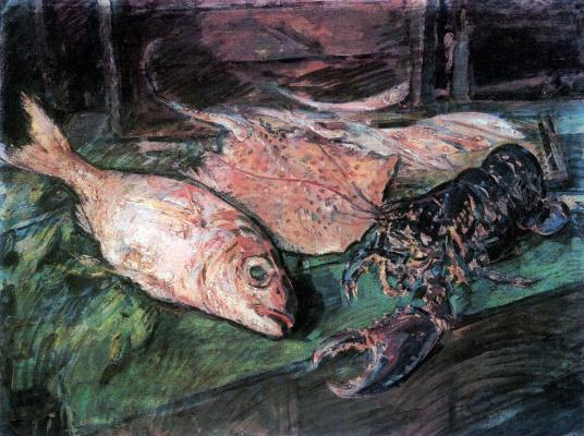 Konstantin Korovin. Still life with lobster