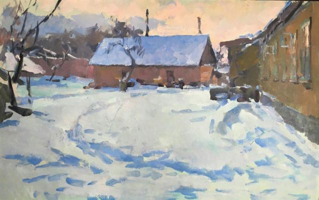 Константин Матвеевич Ломыкин. Зима.