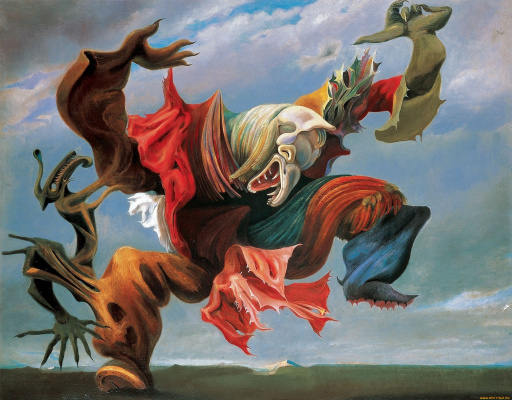 Max Ernst. The angel of the hearth or the triumph of surrealism
