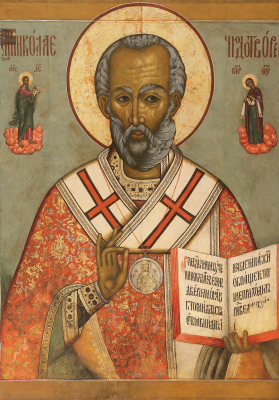Icon Painting. St. Nicholas the Wonderworker