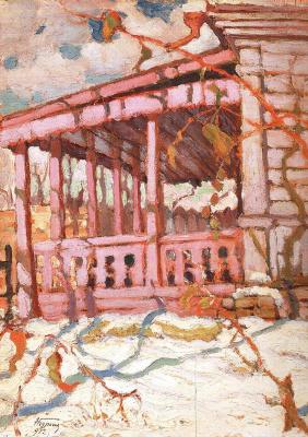 Николай Григорьевич Бурачек. Porch in winter
