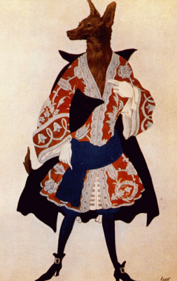 "Lev Samoilovich Bakst (Leon Bakst). Wolf. Costume design for the ballet ""Sleeping Beauty"""