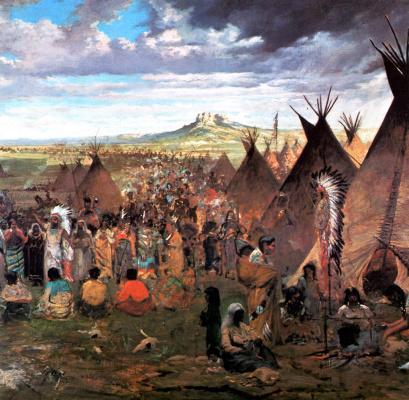 Jules Tavernier. Camp Sioux