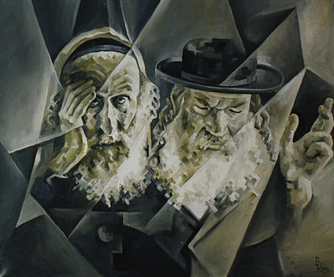 Vasily Krotkov. The rabbis. Kubofuturizm