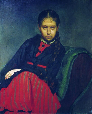 The portrait VA Shevtsova, later the artist's wife