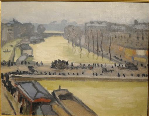 Albert Marquet. Flooding in Paris. St. Michel Bridge.