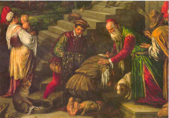Jacopo da Ponte Bassano. The prodigal son