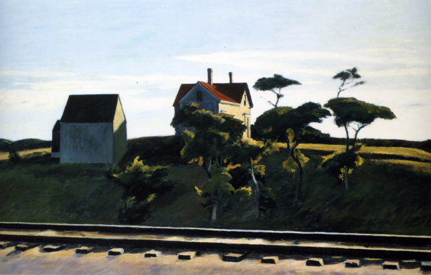 Edward Hopper. New York, new haven and Hartford