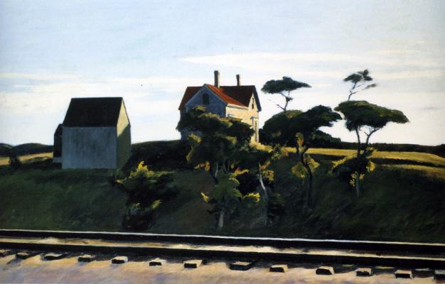 Edward Hopper. New York, new haven and Hartford