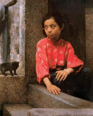 Хан-Ву Шен. Девочка и черный котенок