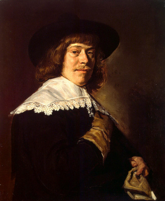 Frans Hals. Portrait of a young man with a glove in his hand