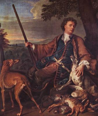 Франсуа Депорте. Автопортрет в наряде охотника