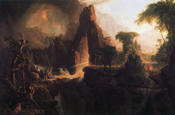 Thomas Cole. The expulsion from the garden of Eden