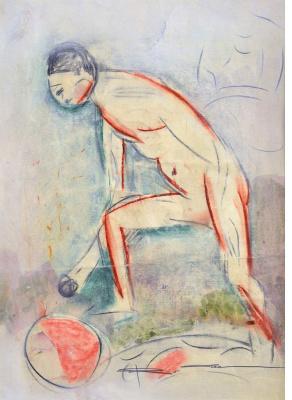 Валентин Дмитриевич Хрущ. Мальчик с мячом