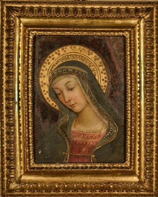 Pinturicchio. Madonna. Fresco fragment from the Apartment Borgia