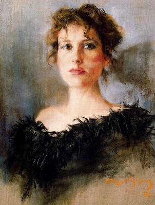 Каэтано де Аркер Буигас. Портрет женщины в черном