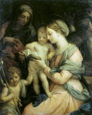 Маратти, Карло. Мадонна учит чтению Христа
