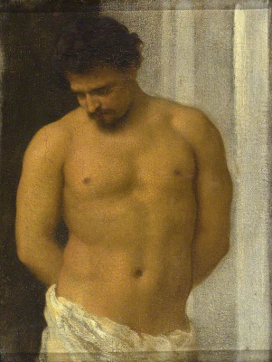 Frederic Leighton. Study of Male Figure