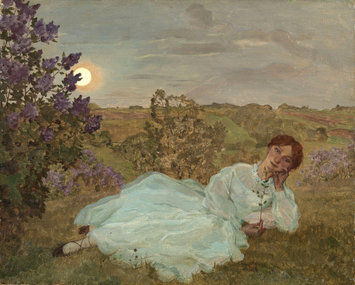 Constantin Somov. Stay at sunset