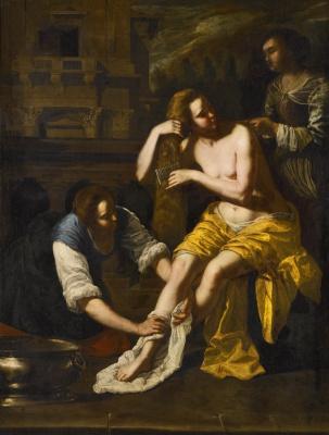 Artemisia Gentileschi. Bathsheba Bathing