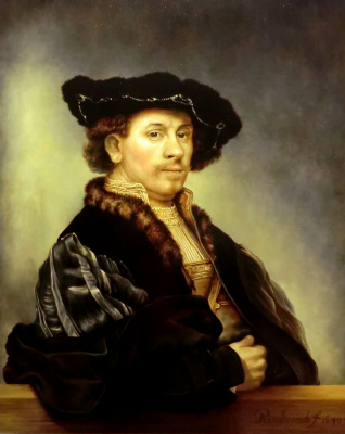 Валерий Васильевич Литвинов. Автопортрет 1640 года (копия Рембрандта)