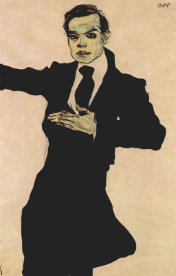 Egon Schiele. Portrait Of Max Oppenheimer