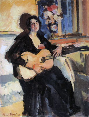 Константин Алексеевич Коровин. Дама с гитарой