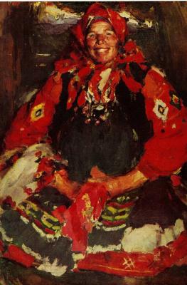 Abram Arkhipov. The woman in the green apron
