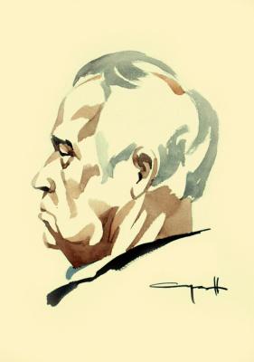 Nikolai Nikolayevich Sednin. Portrait of A. V. Buturov