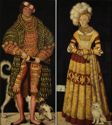 Lucas Cranach the Elder. Portrait of Henry the Pious, Duke of Saxony and his wife Katharina von Mecklenburg