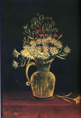 Henri Rousseau. The flowers in the jar