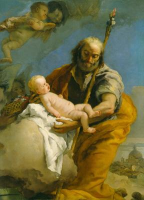 Giovanni Battista Tiepolo. Saint Joseph and the Christ Child