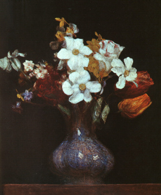Анри Фантен-Латур. Нарцисс и тюльпаны