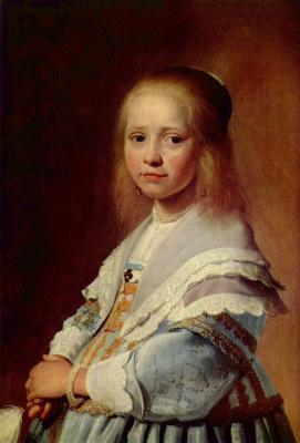 Ян Корнелис Верспронк. Девочка в голубом, фрагмент