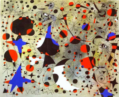 Joan Miro. Midnight song of the Nightingale and the morning rain