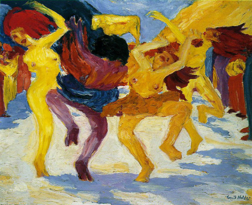Emil Nolde. The dance around the Golden calf