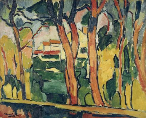Морис де Вламинк. Пейзаж с красными деревьями