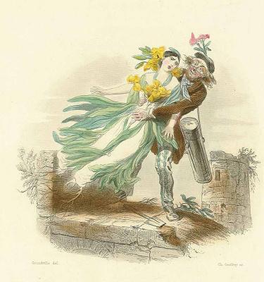 "Jean Inias Isidore (Gerard) Granville. LACQUIOL (Jelgun). The series ""Animate Flowers"""