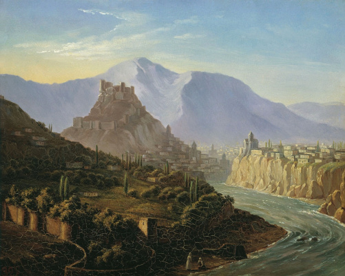 Mikhail Yurjevich Lermontov. View of Tiflis