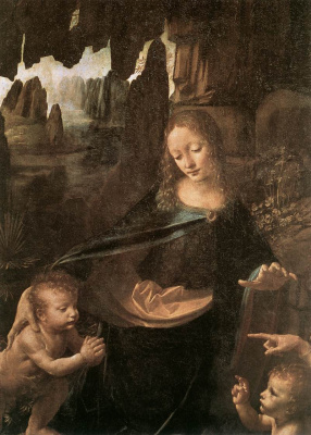 Virgin of the rocks (detail)