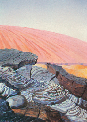 William Hartmann. The lava flow on Mars