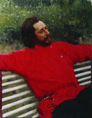 Илья Ефимович Репин. Портрет Л.Н.Андреева (Летний отдых)