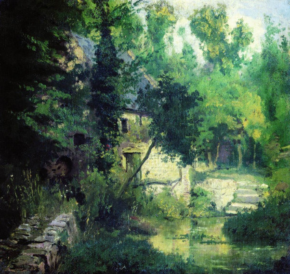 Vasily Dmitrievich Polenov. The mill on the source of the river vel