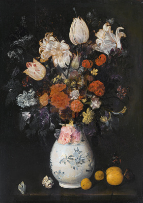 Judith Leyster. Flowers in a vase